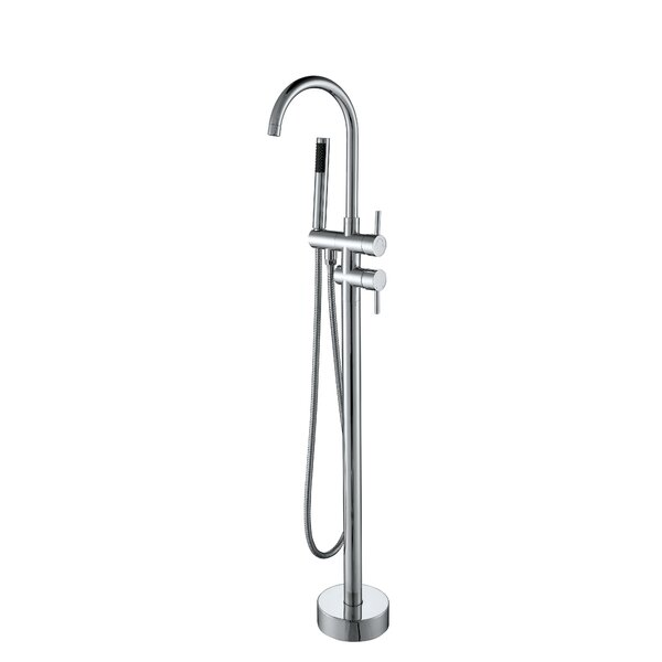 Single Handle Floor Mounted Tub Filler Trim with Hand Shower by Vanity Art