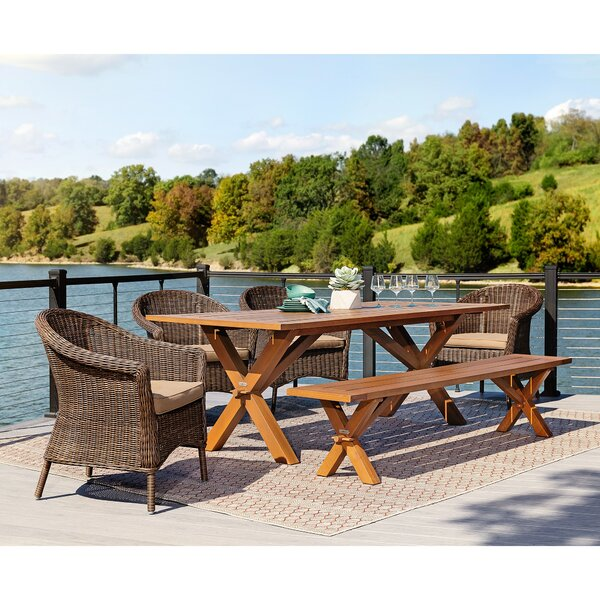 Cumberland 6 Piece Dining Set with Cushions