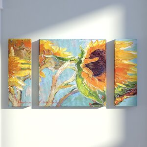 Sun 11 by Richard Wallich 3 Piece Painting Print on Wrapped Canvas Set by Red Barrel Studio
