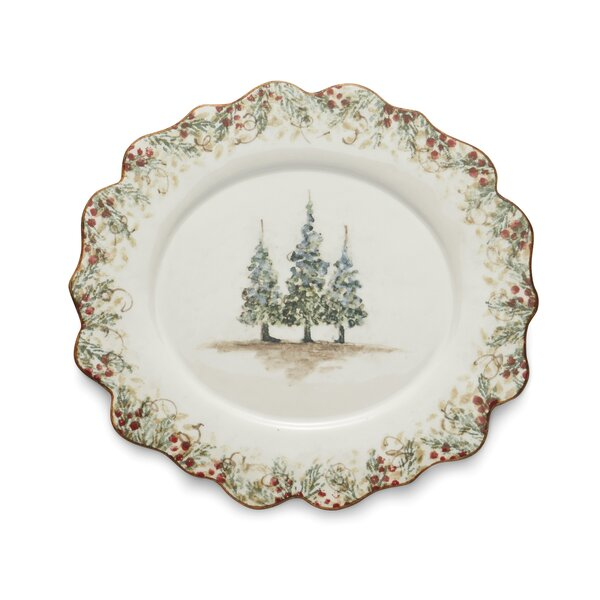 Natale Scalloped Oval Platter by Arte Italica