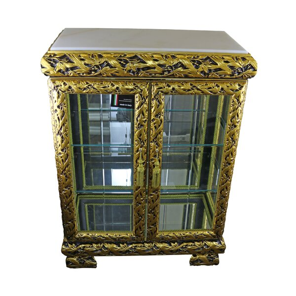 Schoen Lighted Curio Cabinet by Astoria Grand