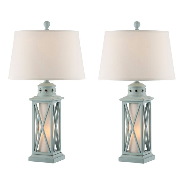 Cantrell Lantern 31 Table Lamp (Set of 2) by Rosecliff Heights