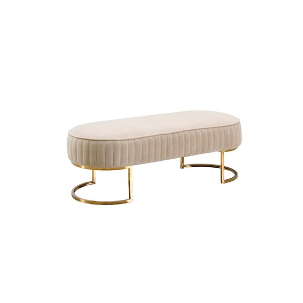 Portal Upholstered Bench by Everly Quinn