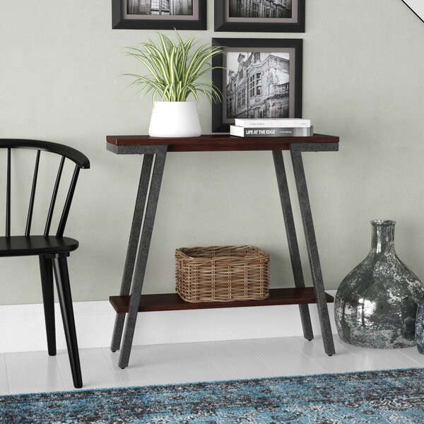 Gracie Oaks Black Console Tables
