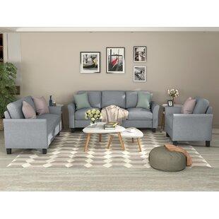 Aucuba 3 Piece Standard Living Room Set by Winston Porter