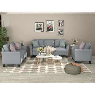 Living Room Sets Furniture Armrest Sofa Single Chair Sofa Loveseat Chair 3-Seat Sofa (Chairloveseat Chair&3-Seat Sofa, Gray) by Red Barrel Studio®