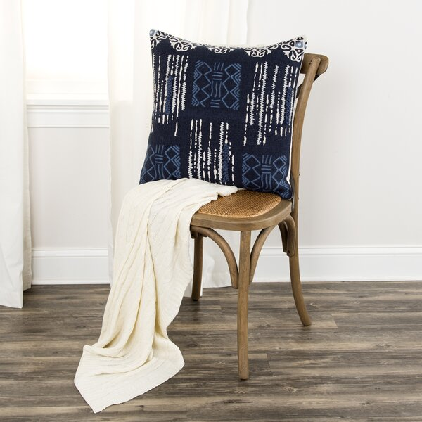 Cotton Throw Pillow by Donny Osmond Home