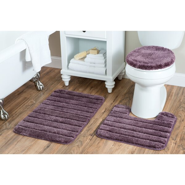 Nova Luxury Nylon 3 Piece Bath Rug Set by Red Barrel Studio