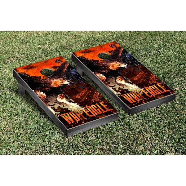NCAA Auburn Tigers War Eagle Version Cornhole Game Set by Victory Tailgate
