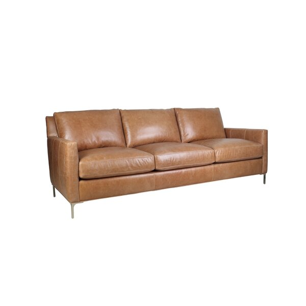 Nenita Leather Sofa by Wrought Studio