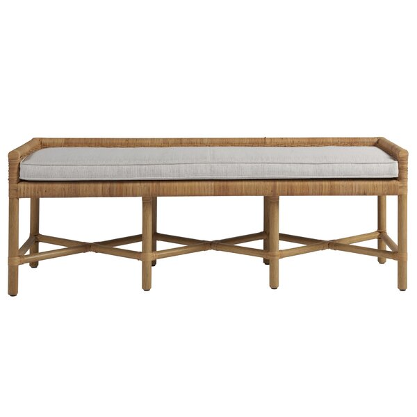 Etienne Pull up Upholstered Wood Bench by Highland Dunes