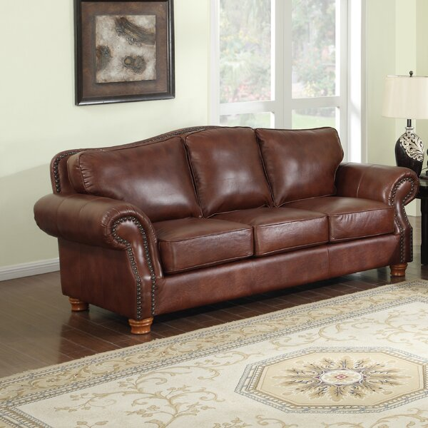 Battista Leather Sofa By Darby Home Co
