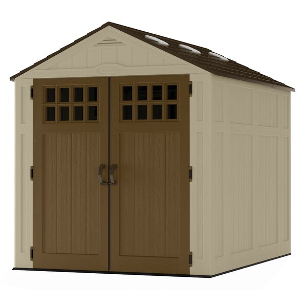 Everett 6 ft. 3 in. W x 8 ft. 2 in. D Plastic Storage Shed by Suncast