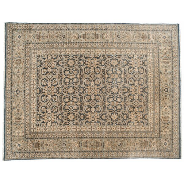 One-of-a-Kind Pakistani Hand-Knotted Brown 9' x 11'7 Wool Area Rug