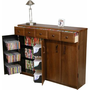 Multimedia Cabinet with Library Style Drawers