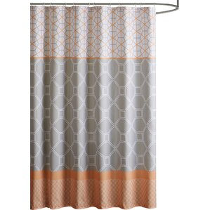 orange and brown shower curtain. Vernetta Microfiber Shower Curtain  Orange Curtains You ll Love Wayfair