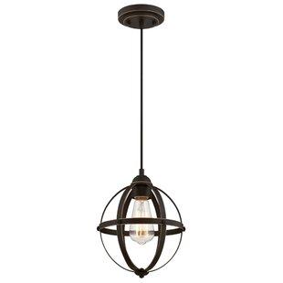 Look for Genna 1-Light Globe Pendant By Gracie Oaks