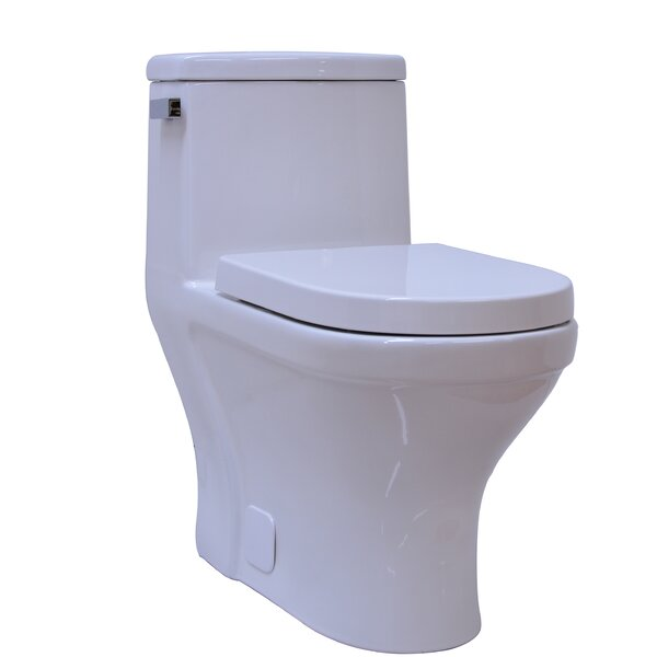 Contemporary Single Flush 1 Piece 1.28GPF Elongated Toilet by UCore