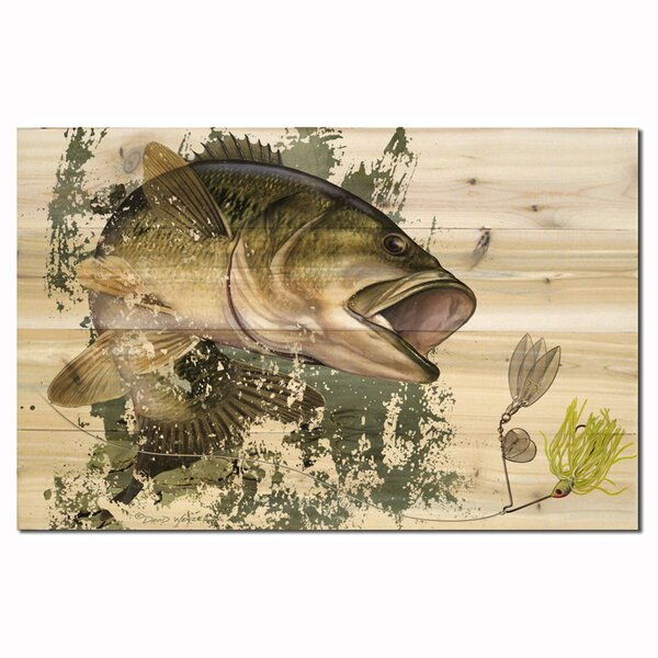 Bass by David Wenzel Painting Print Plaque by WGI-GALLERY