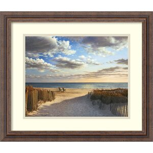 'Sunset Beach' by Daniel Pollera Framed Photographic Print by Amanti Art