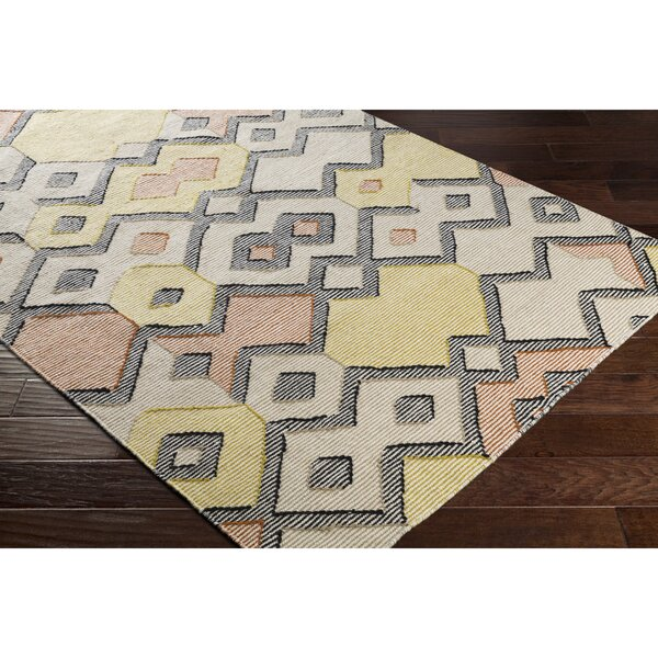 Holden Hand-Woven Orange/Green Area Rug by Wrought Studio
