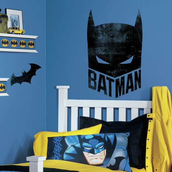 Batman Mask Peel and Stick Giant Wall Decals by Room Mates
