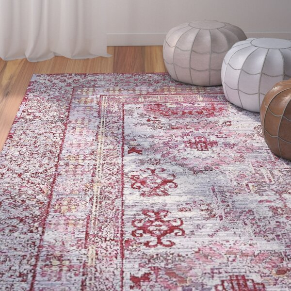 Center Red/Pink Area Rug by Bungalow Rose