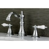 English Classic Widespread Bathroom Faucet with Drain Assembly by Kingston Brass