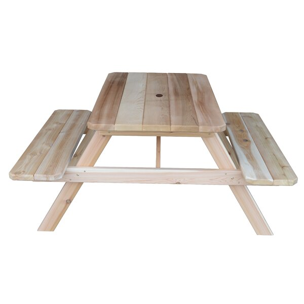 Lawler Wooden Picnic Table By Longshore Tides