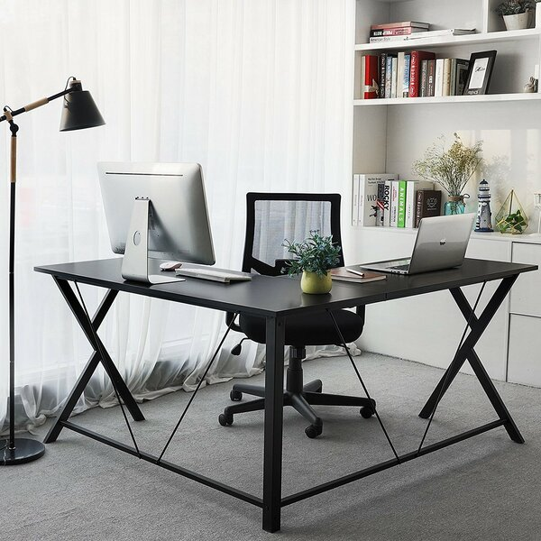 Eveland Open Top Corner Writing Desk by Rebrilliant