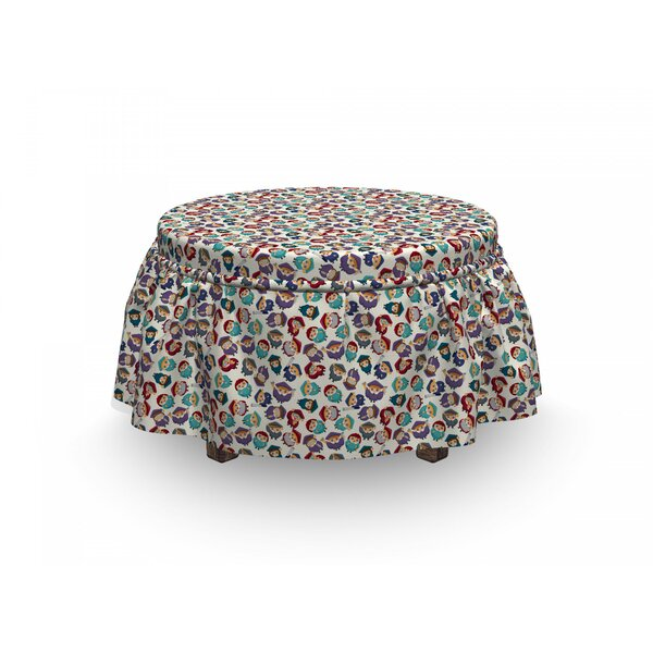 Repeating Character Ottoman Slipcover (Set Of 2) By East Urban Home