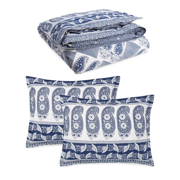 Nicole Paisley Reversible Comforter Set