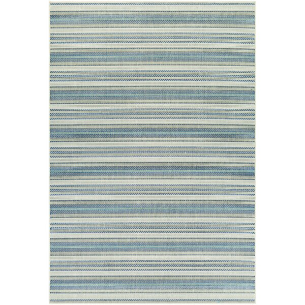 Wexford Marbella Blue Indoor/Outdoor Area Rug by Beachcrest Home
