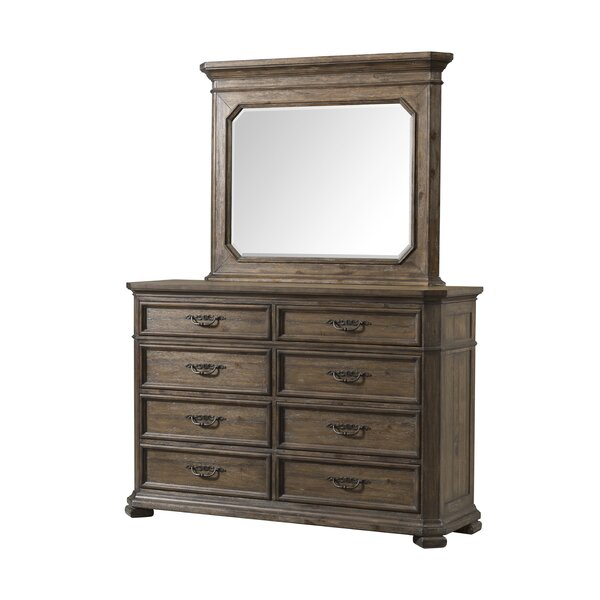 8 Drawer Double Dresser with Mirror by Gracie Oaks