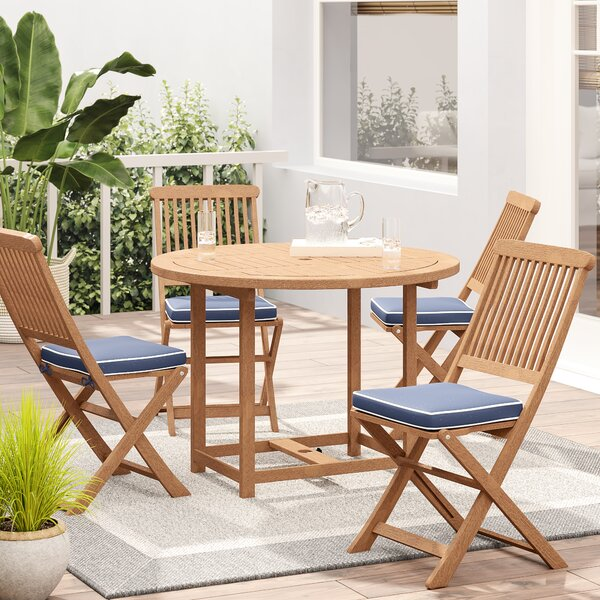 Roseland Round Fold And Store 6 Piece Dining Set By Beachcrest Home