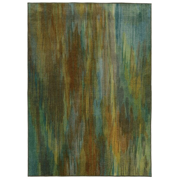 Prismatic Abstract Green Area Rug by Pantone Universe
