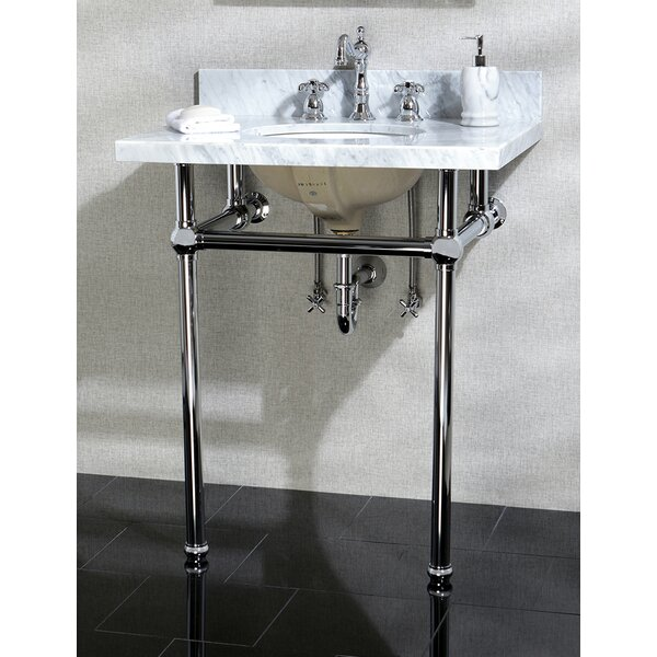 Templeton 30 Console Bathroom Sink with Overflow by Kingston Brass