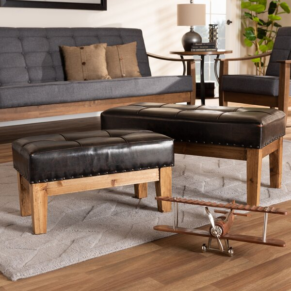 Simonds 2 Piece Tufted Ottoman Set by Millwood Pines