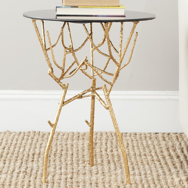 Rex Glass Top Figurine End Table By Willa Arlo Interiors