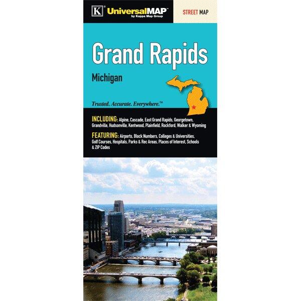 Grand Rapids Fold Map by Universal Map