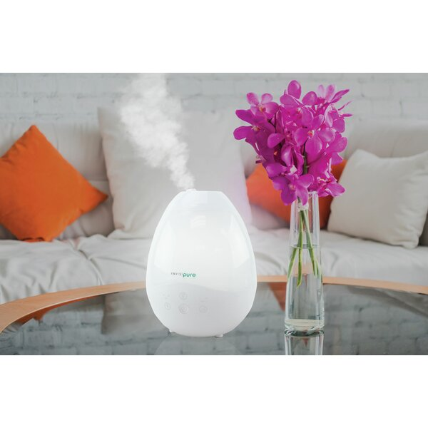 Luna Top Fill 0.66 Gal. Cool Mist Ultrasonic Whole House Humidifier by InvisiPure