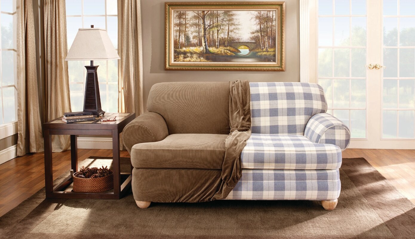 Sure Fit Stretch Stripe T Cushion Loveseat Slipcover Reviews Wayfair