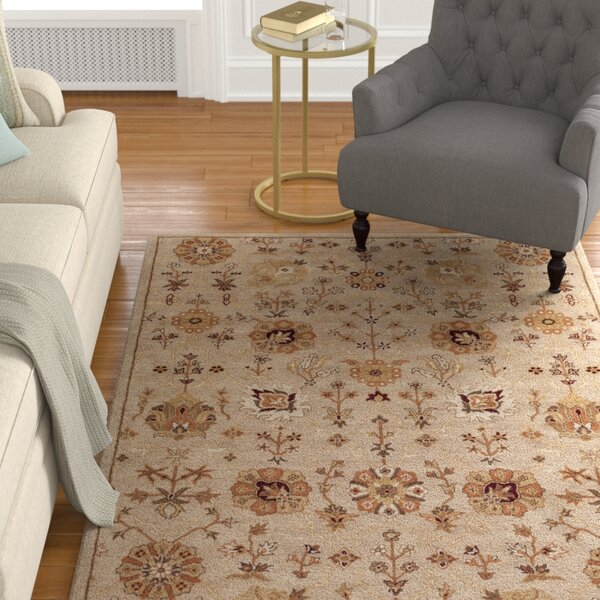 Phinney Hand Tufted Tan Area Rug By Astoria Grand.