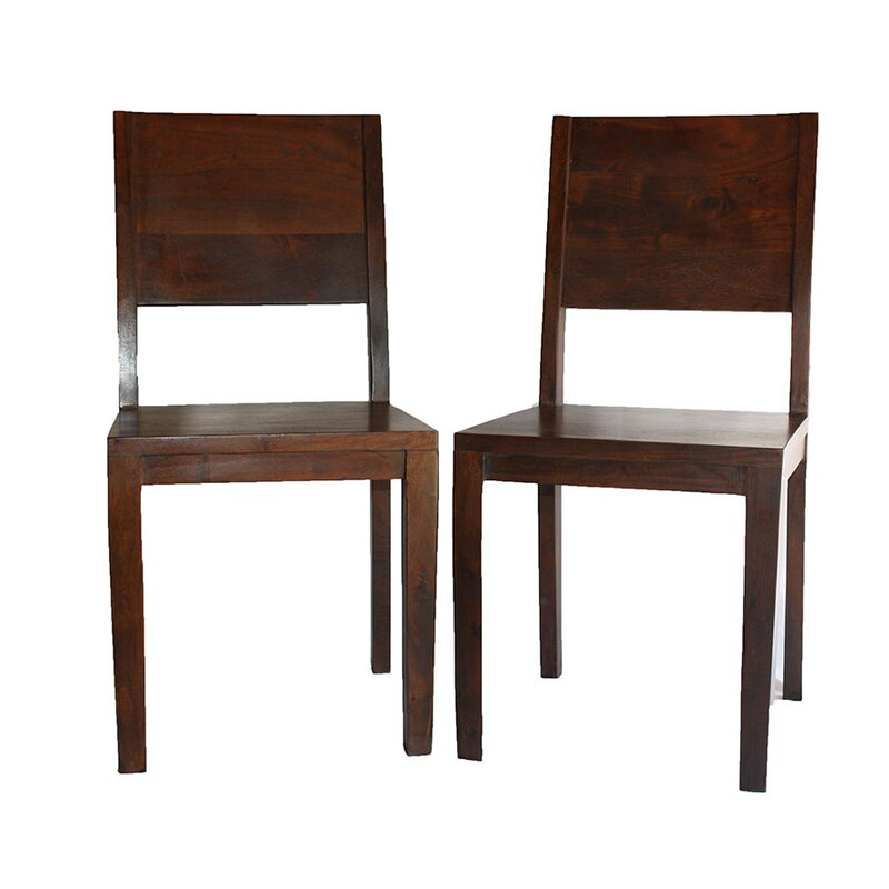 Lachlan Simple Acacia Wood Side Chair