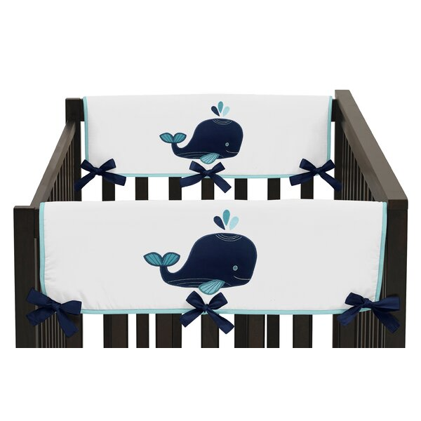 Whale Crib Side Rail Guard Cover (Set of 2) by Sweet Jojo Designs