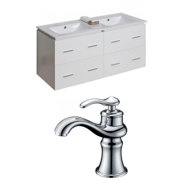 Kyra Modern 48 Double Bathroom Vanity Set