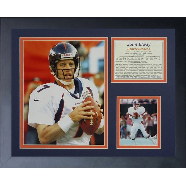 John Elway Away Framed Memorabilia by Legends Never Die