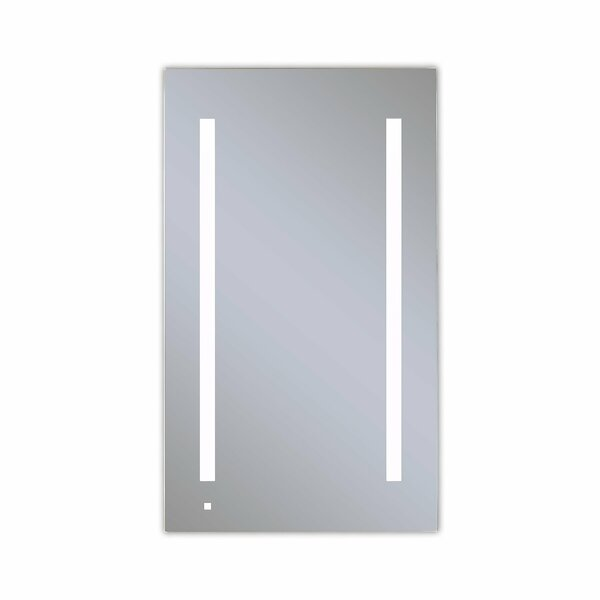 AiO Recessed Framed Medicine Cabinet with 3 Adjustable Shelves and LED Lighting