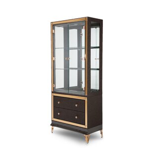 Hollywood Loft Lighted China Cabinet by Michael Amini (AICO)