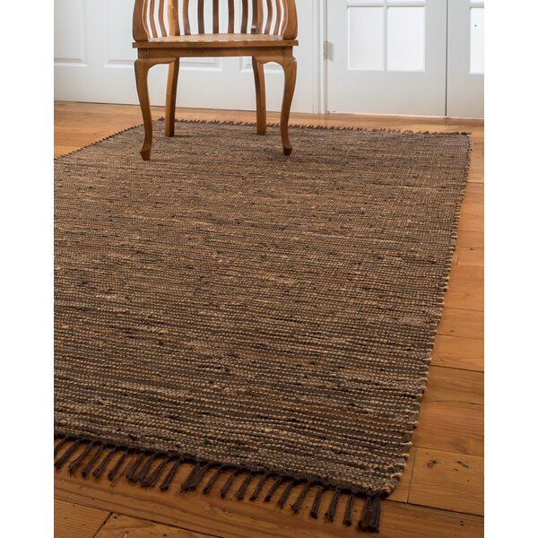 Vera Cruz Hand-Woven Brown Area Rug by Natural Area Rugs